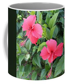 2 Hibiscus Coffee Mug