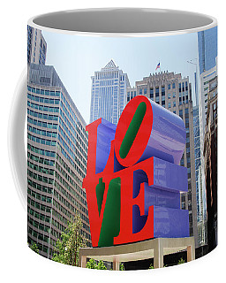 Coffee Mug featuring the photograph Love In The City - Philadelphia by Bill Cannon