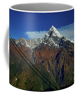 Machapuchare Mountain Fishtail In Himalayas Range Nepal Coffee Mug