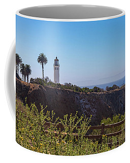 Coffee Mug featuring the photograph Point Vicente Lighthouse by Ed Clark