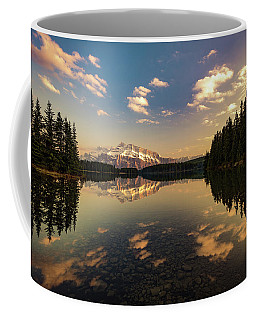 Two Jack Lake And Mount Rundle Coffee Mug