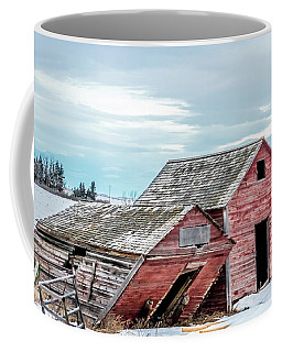 A Sign Of The Times, Run Diown Farm Out Buildings And Barns, Alb Coffee Mug