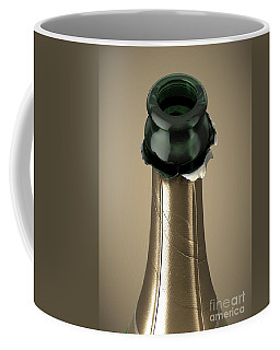 Gold Champagne Bottle Open Neck Coffee Mug