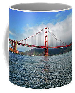 Coffee Mug featuring the photograph Golden Gate Bridge by Anthony Dezenzio
