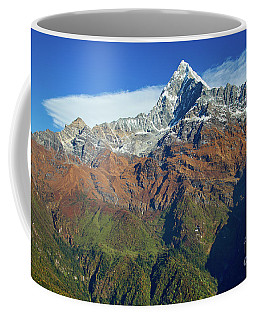 Machapuchare Mountain Fishtail In Himalayas Range Nepal Coffee Mug