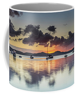 Overcast Morning On The Bay With Boats Coffee Mug