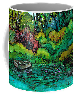 Coffee Mug featuring the painting Safe Mooring by Val Stokes