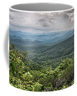 Coffee Mug featuring the photograph Rough Ridge Overlook Viewing Area Off Blue Ridge Parkway Scenery by Alex Grichenko