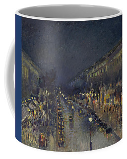 The Boulevard Montmartre At Night Coffee Mug