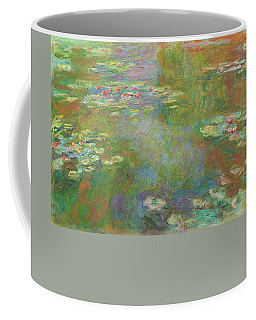 Coffee Mug featuring the digital art Water Lily Pond by Claude Monet