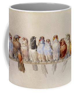A Perch Of Birds  Coffee Mug