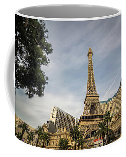 Coffee Mug featuring the photograph View On The Replica Of Eiffel Tower At Paris Hotel   by Alex Grichenko