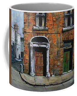 Coffee Mug featuring the painting 775 Decaying Elegance In The Liberties, Dublin by Val Byrne
