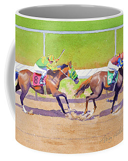 8 Chasing 5 At Del Mar Coffee Mug