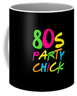 Coffee Mug featuring the digital art 80s Party Chick by Flippin Sweet Gear