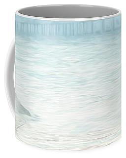 84x19 Heron And Bridge Coffee Mug