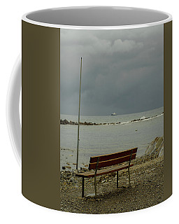A Bench On Which To Expect, By The Sea Coffee Mug