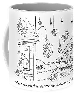 A Couple Watches As It Rains Safes Coffee Mug
