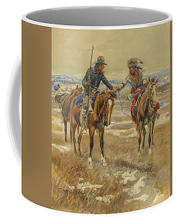 A Doubtful Handshake Coffee Mug