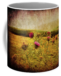 Coffee Mug featuring the photograph A Field Covered With Mist by Milena Ilieva