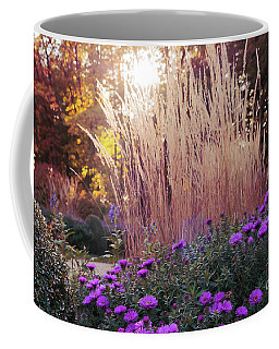 A Flower Bed In The Autumn Park Coffee Mug