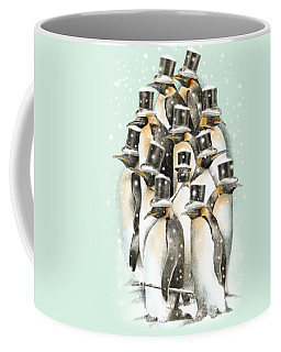 A Gathering In The Snow Coffee Mug