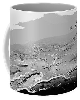 Coffee Mug featuring the digital art A Lifeless Planet Black by ISAW Company