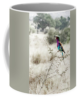 A Lilac Breasted Roller Sings, Desaturated Coffee Mug