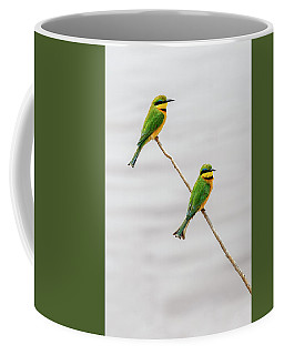 Coffee Mug featuring the photograph A Little Bee Eater Couple by Kay Brewer