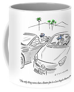 A Los Angeles Boston Fan Coffee Mug