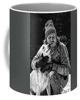 A Man And His Dog 3 Bw Coffee Mug