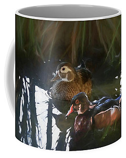 A Pair Of Wood Ducks. Coffee Mug
