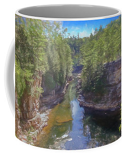 A Scenic Art Photograph At Ausable Chasm. Adirondack Park. Coffee Mug