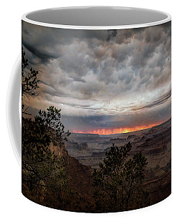 A Stormy Sunset At The Canyon Coffee Mug