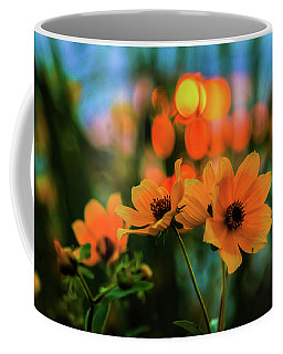 Sunflower Bokeh Sunset Coffee Mug