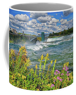 Coffee Mug featuring the photograph A Touch Of Summer In Fall At Niagara Falls, New York by Lynn Bauer