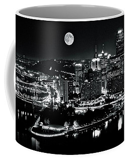 A View Of Pittsburgh Pa From Above Coffee Mug