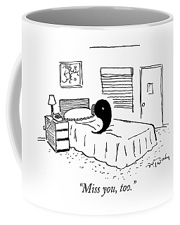 A Ying Talks To A Yang On The Phone Coffee Mug