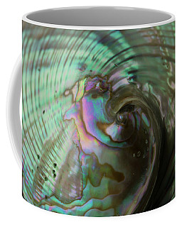 Coffee Mug featuring the photograph Abalone_shell_9903 by Mark Shoolery