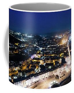 Aberystwyth At Night From The Air Coffee Mug