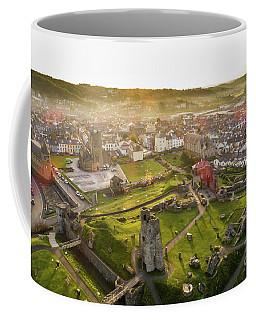 Aberystwyth Castle From The Air At Dawn Coffee Mug