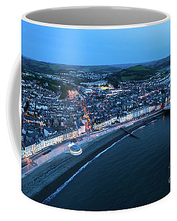 Aberystwyth From The Air At Night Coffee Mug