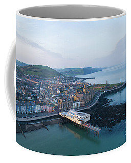 Aberystwyth From The Air In The Morning Coffee Mug