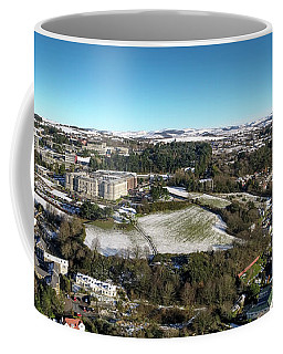 Aberystwyth From The Air On A Winter Morning Coffee Mug