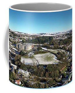Aberystwyth From The Air On A Winter Morning Coffee Mug