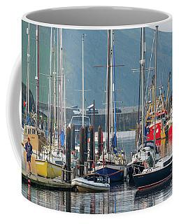 Aberystwyth Marina At Daybreaj Coffee Mug