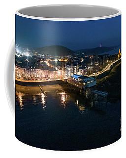Aberystwyth Wales At Night From The Air Coffee Mug