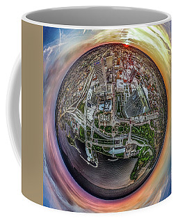 Coffee Mug featuring the photograph Above The Calling Little Planet by Randy Scherkenbach