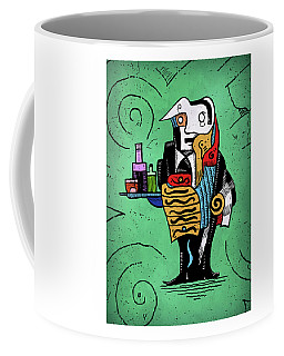 Coffee Mug featuring the painting Absinthe by Sotuland Art