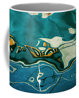 Coffee Mug featuring the photograph Abstract Boat Reflection V Color by David Gordon